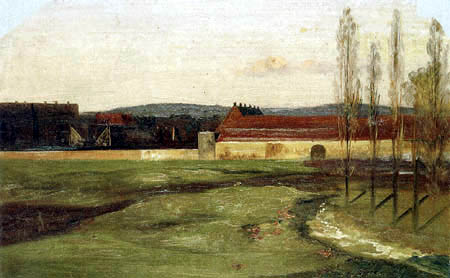 Ernst Ferdinand Oehme - The Ostra factory near Dresden