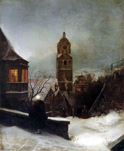 Ernst Ferdinand Oehme - Still Christmas