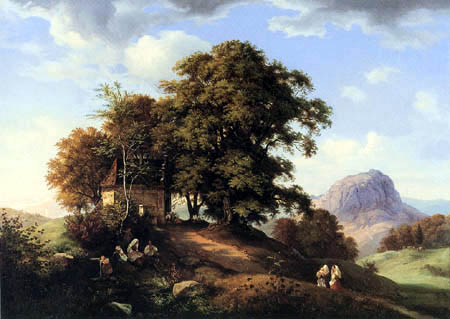 Ernst Ferdinand Oehme - Area near Bilin into Bohemia