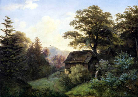 Ernst Ferdinand Oehme - The water mill