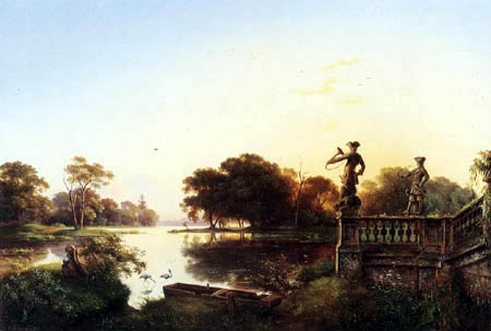 Ernst Ferdinand Oehme - In the Moritzburg