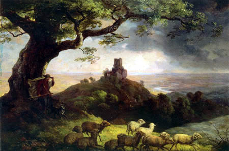 Ernst Ferdinand Oehme - The ruin of Kamaik in Bohemia