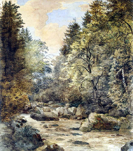 Ernst Ferdinand Oehme - The Dittersbach valley