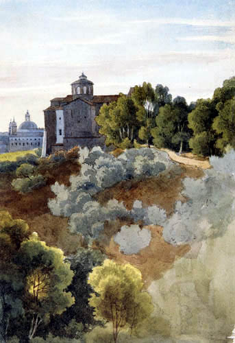 Ernst Ferdinand Oehme - View of Rome