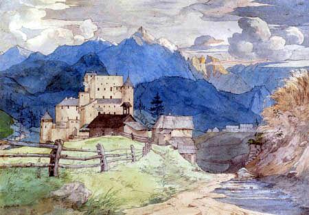 Ernst Ferdinand Oehme - Burg Naudersberg in Tirol