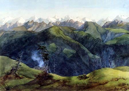 Ernst Ferdinand Oehme - Mountain Rigi