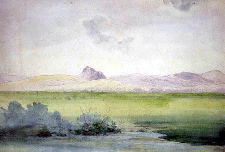 Ernst Ferdinand Oehme - The Borschen near Bilin into Bohemia