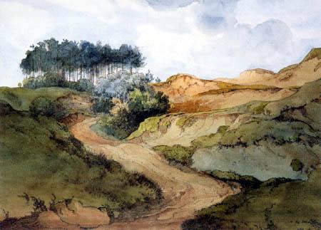 Ernst Ferdinand Oehme - Landscape in the heathland
