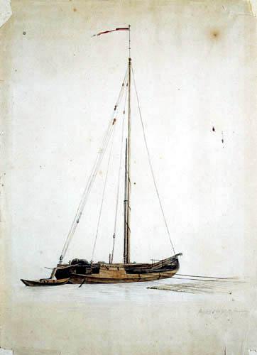 Ernst Ferdinand Oehme - Sailing vessel