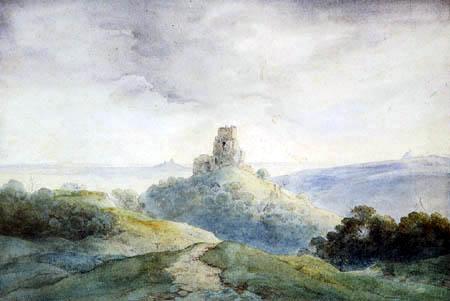 Ernst Ferdinand Oehme - The Castle ruin Kamaik in Bohemia