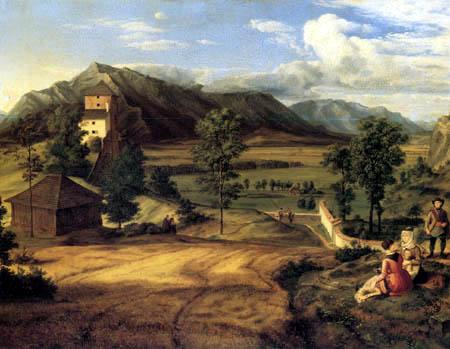 Ferdinand Olivier - Landscape near Salzburg