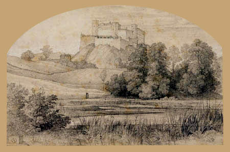 Ferdinand Olivier - The fortress Hohensalzburg