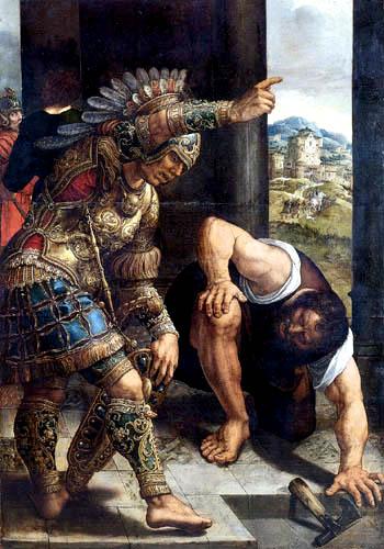 Bernaert van Orley - Römischer Krieger und Knecht