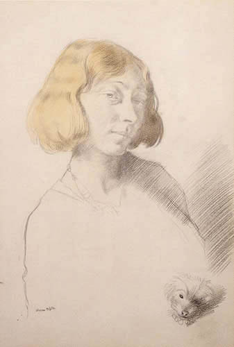 William Orpen - Vera Hone and her Dog