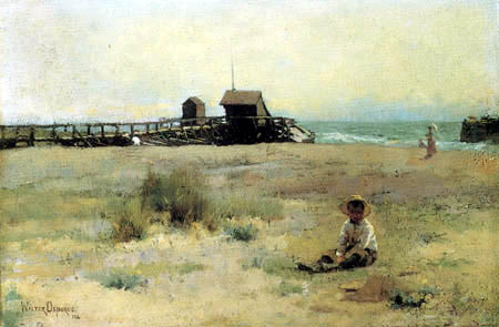 Walter F. Osborne - Boy on a Beach