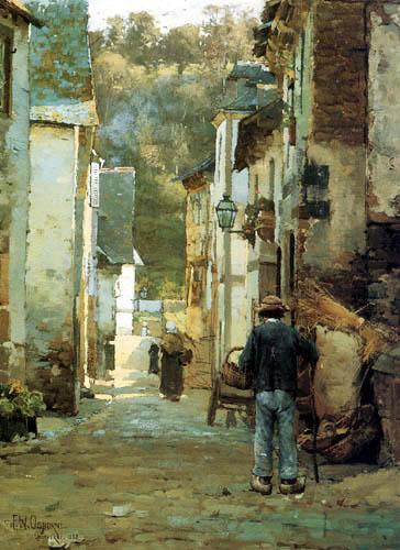 Walter F. Osborne - Rue San Sebastian, Quimperlé