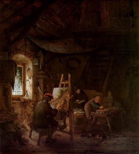 Adriaen van Ostade - Le atelier