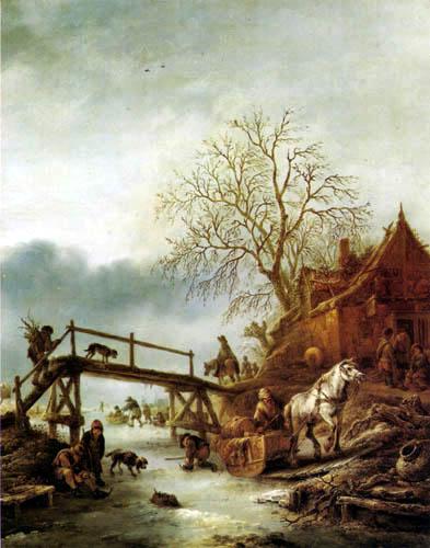 Isack van Ostade - Winterszene