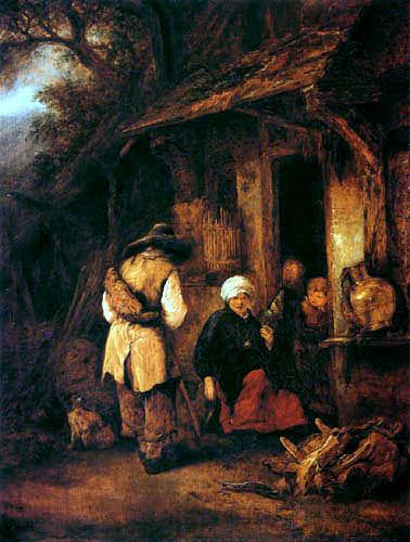 Isack van Ostade - A hobo