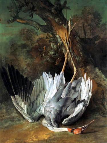 Jean-Baptiste Oudry - Hunted crane