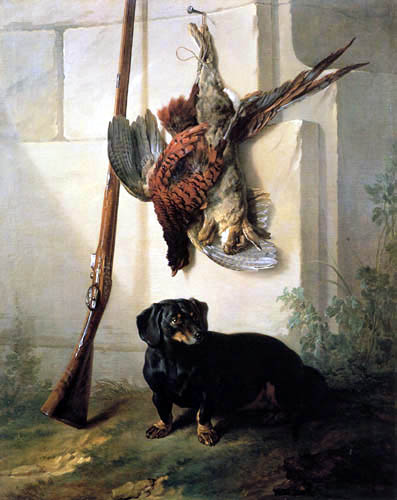 Jean-Baptiste Oudry - A hunting dog and his booty