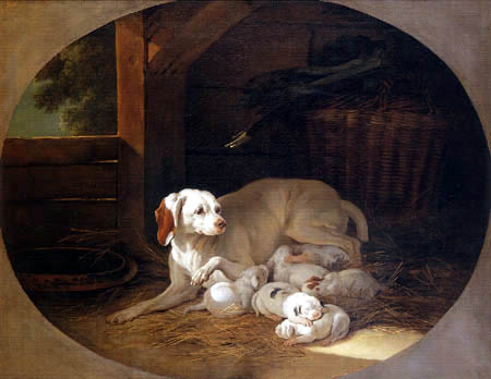 Jean-Baptiste Oudry - Hunt dog with their puppies