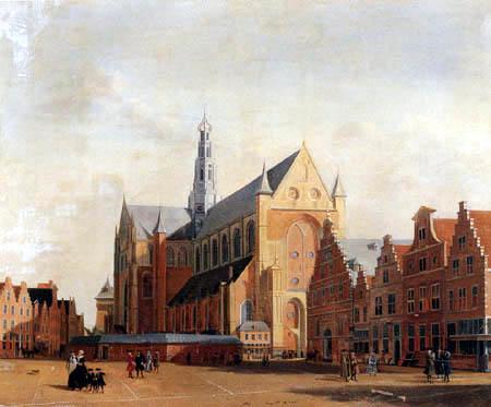 Isaac Ouwater - St. Bavo´s Kathedrale und der Groote Markt, Haarlem