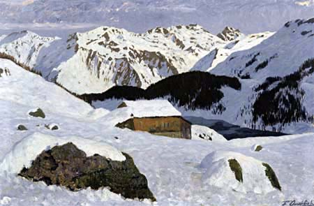Fritz Overbeck - On the Lake, Davos