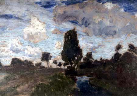 Fritz Overbeck - Paysage de la lande, Worpswede