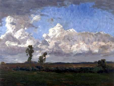 Fritz Overbeck - Les nuages d'orage, Worpswede