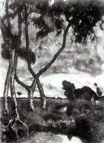 Fritz Overbeck - Tempête dans le Lande