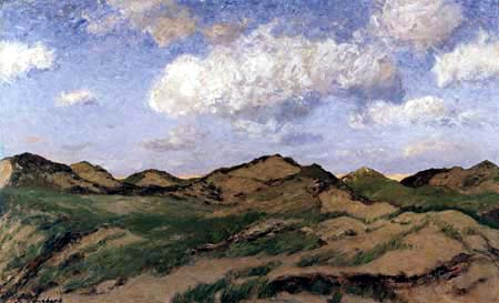 Fritz Overbeck - Evening in the dunes, Sylt