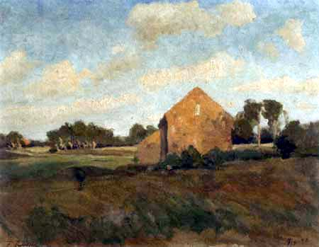 Fritz Overbeck - Soleil couchant, Worpswede