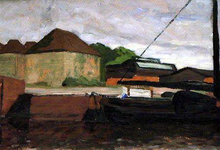Fritz Overbeck - Au port de Vegesack