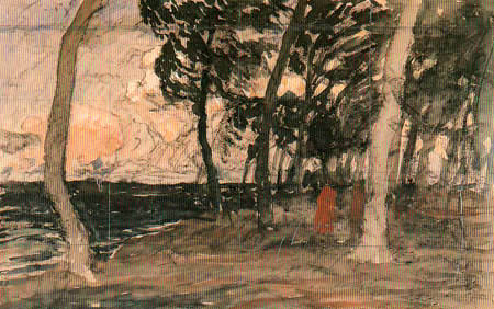 Fritz Overbeck - Evening at the forest edge
