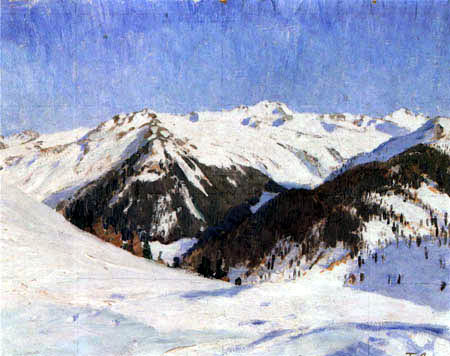 Fritz Overbeck - In the mountains, Davos