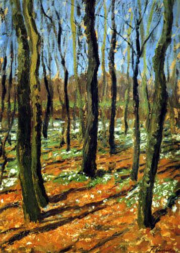 Fritz Overbeck - Bosquet de printemps avec des anémones