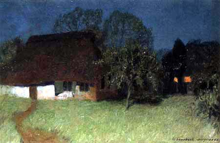 Fritz Overbeck - Moon Night I, The White House