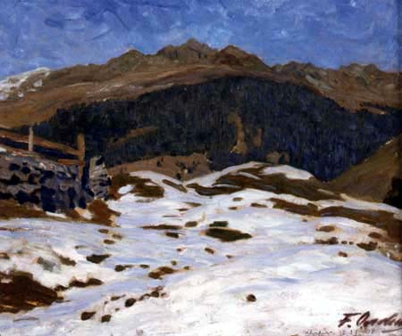 Fritz Overbeck - First snow in Klosters, Davos
