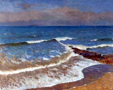 Fritz Overbeck - Navire à l'horizon