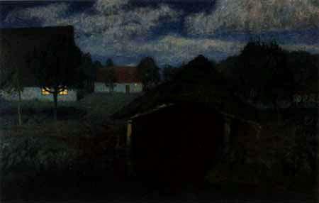 Fritz Overbeck - Nuit de lune III