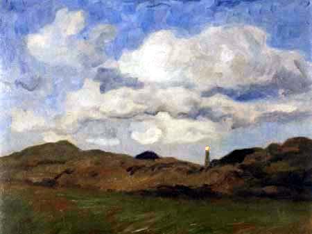 Fritz Overbeck - Crépuscule dans les dunes, Sylt