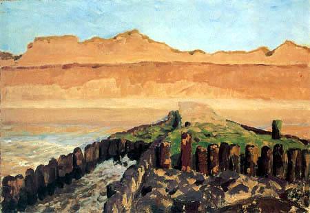 Fritz Overbeck - Brise-lames sur la falaise
