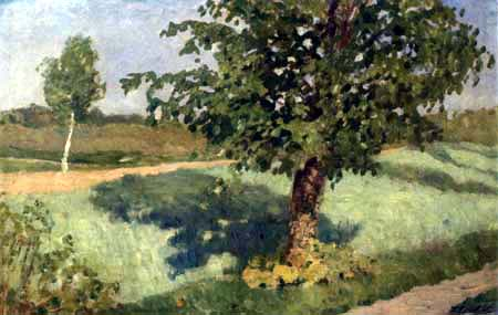 Fritz Overbeck - A tree between the paths, Worpswede