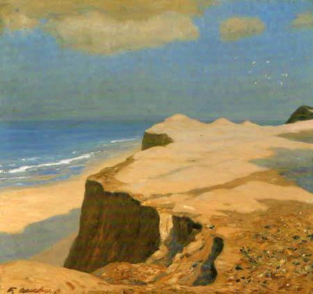 Fritz Overbeck - Morning at the beach, Cliff near Kampen