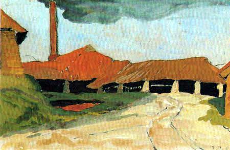Fritz Overbeck - Fábrica de ladrillos