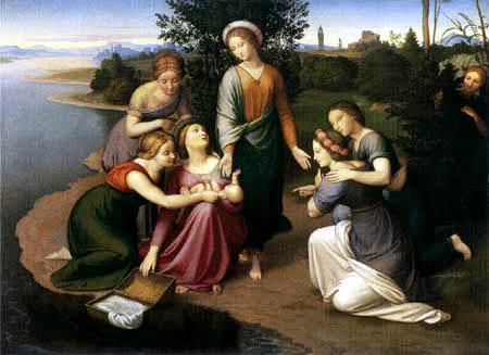 Johann Friedrich Overbeck - Die Findung Moses