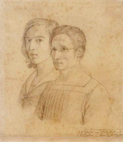 Johann Friedrich Overbeck - Selfportrait and Peter Cornelius