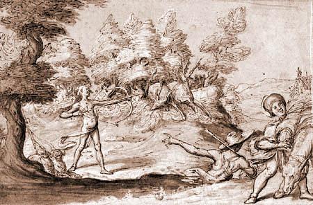 Gregorio Pagani - Deer hunt