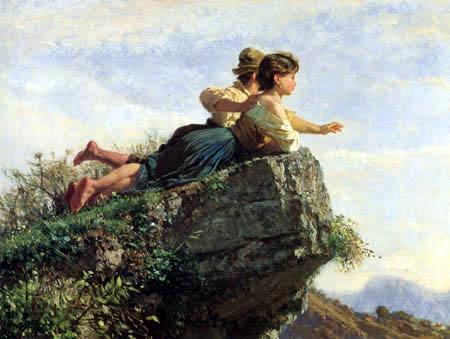 Giuseppe Palizzi - Blick vom Felsen